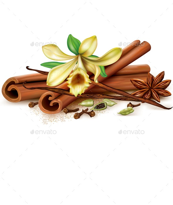 Aromatic Spices - Food Objects