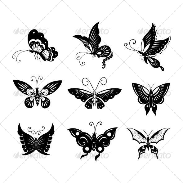 butterflies design - Animals Characters