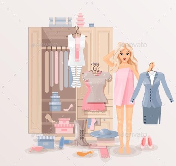 Girl With Clothes Closet - Weddings Seasons/Holidays