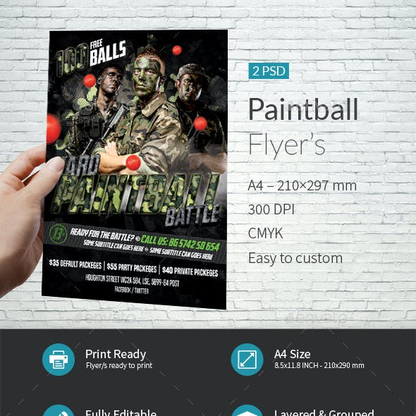 Paintball Event Flyer Templates