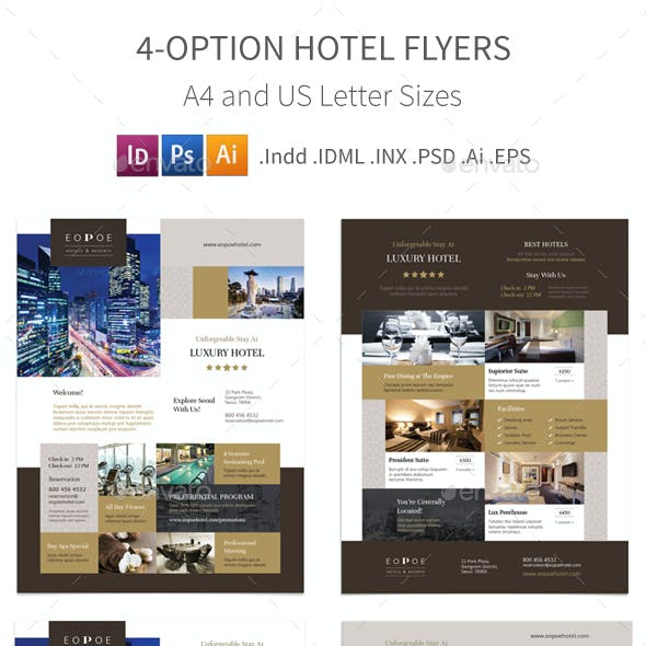 Hotel Flyers 5 – 4 Options