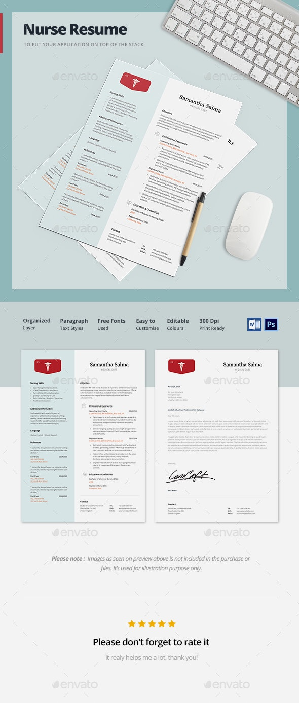 Nurse Resume Template - Resumes Stationery