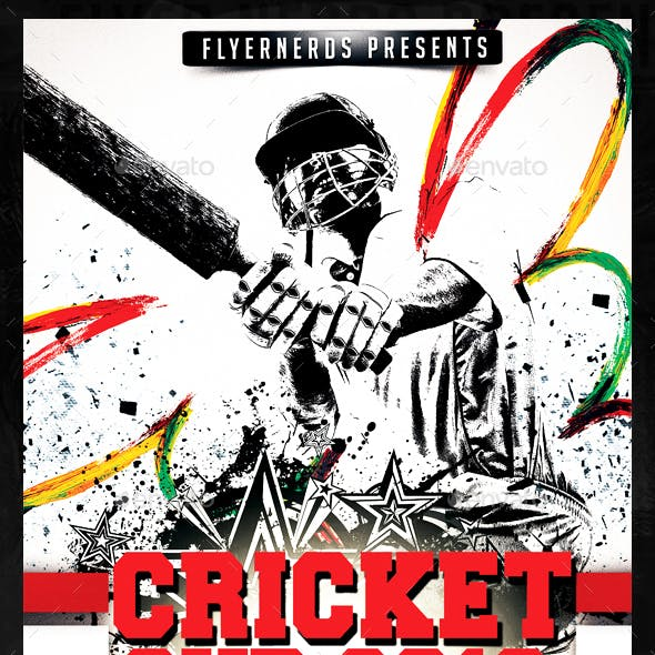 Cricket Cup 2016 Sports Flyer