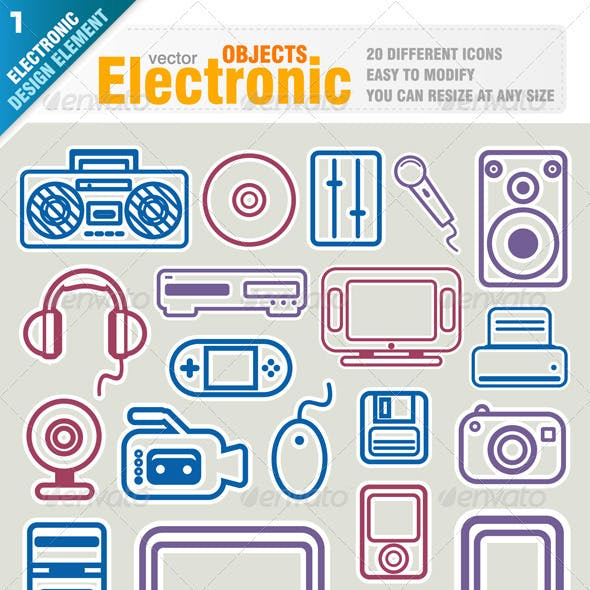 Electronic Object Icons