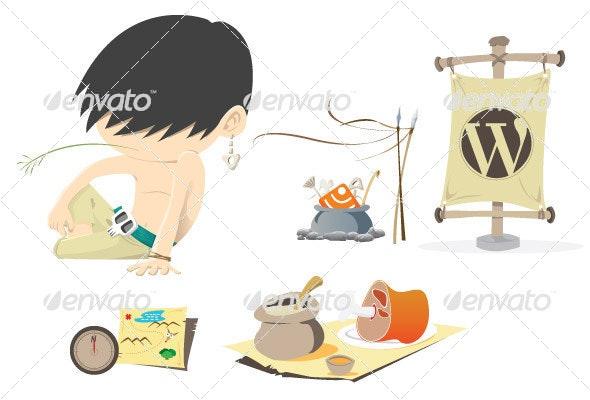 Stone Age - Characters Vectors