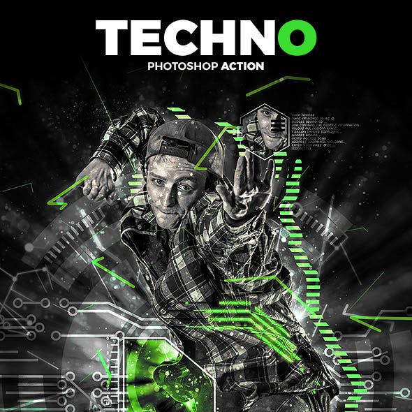 Techno Photoshop Action