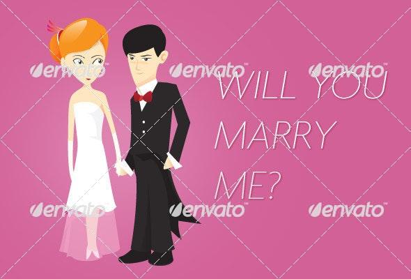 Wedding  - Characters Vectors