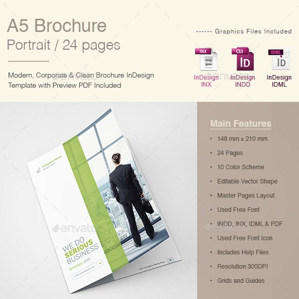 A5 Brochure Portrait