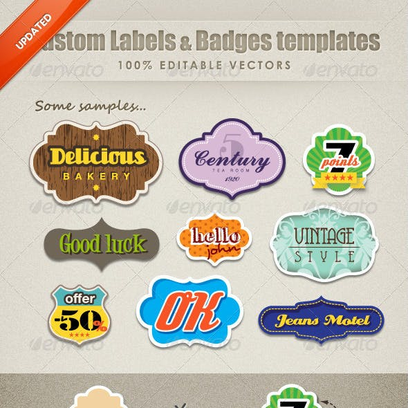 Custom Labels & badges Templates