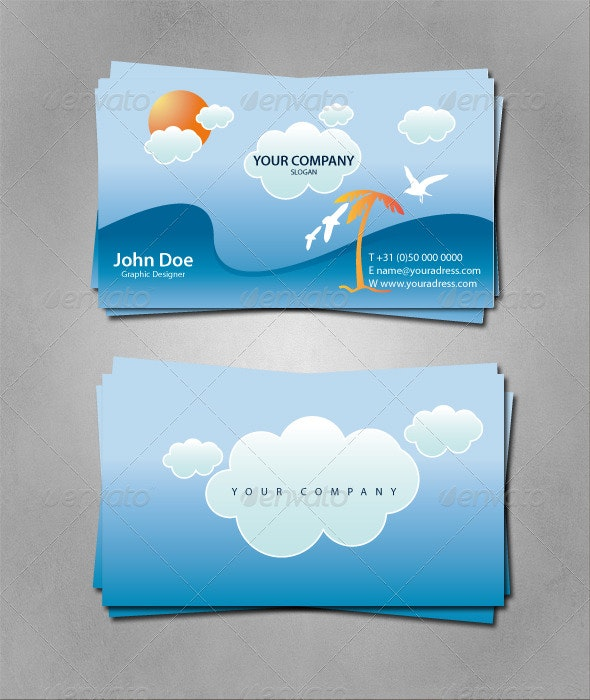 Sunny Business Card - Creative Business Cards