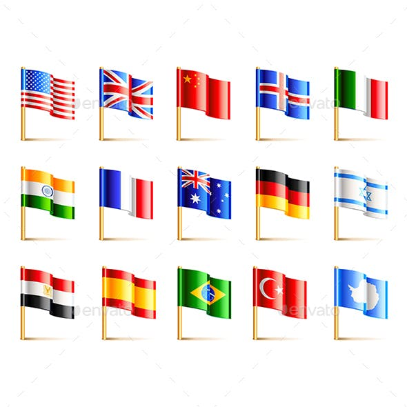 World Countries Flags Set