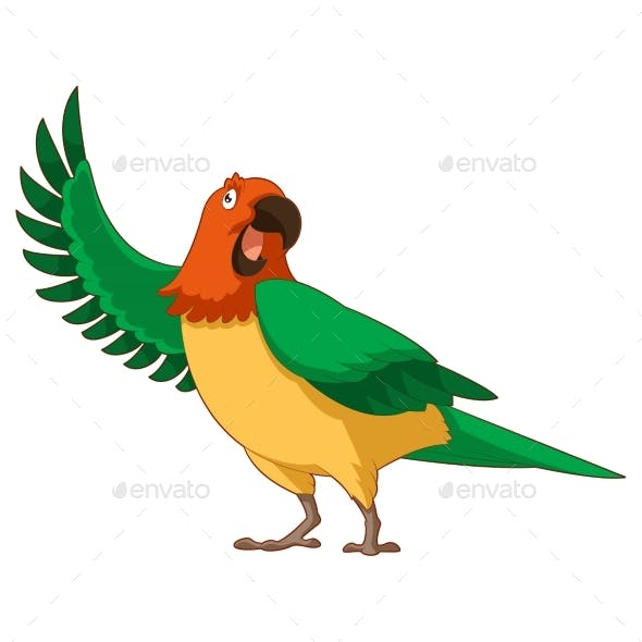 Cartoon Greeting Parrot