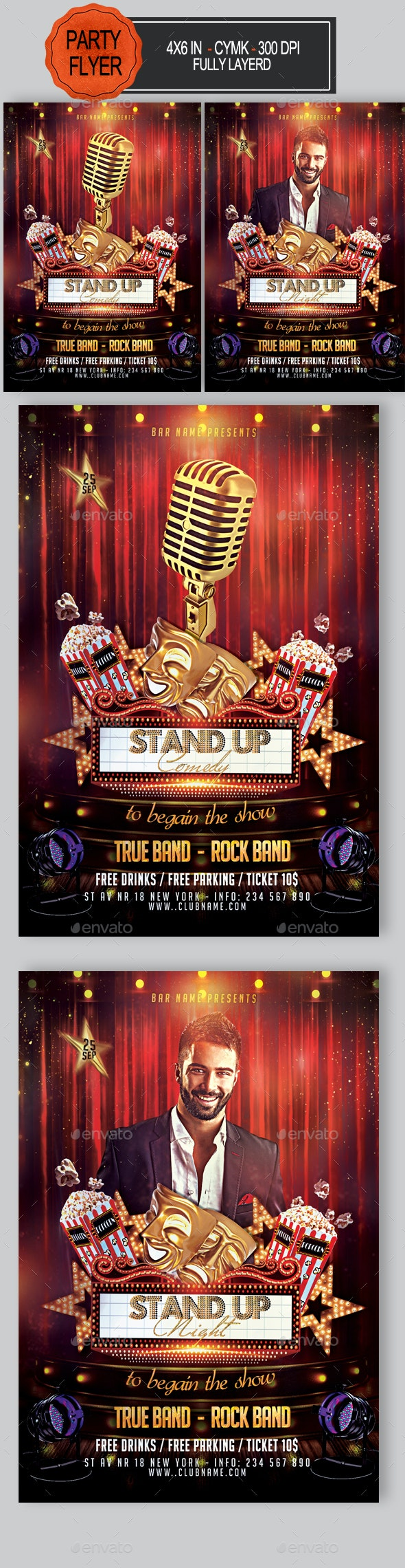 Stand Up Comedy Night Flyer - Clubs & Parties Events