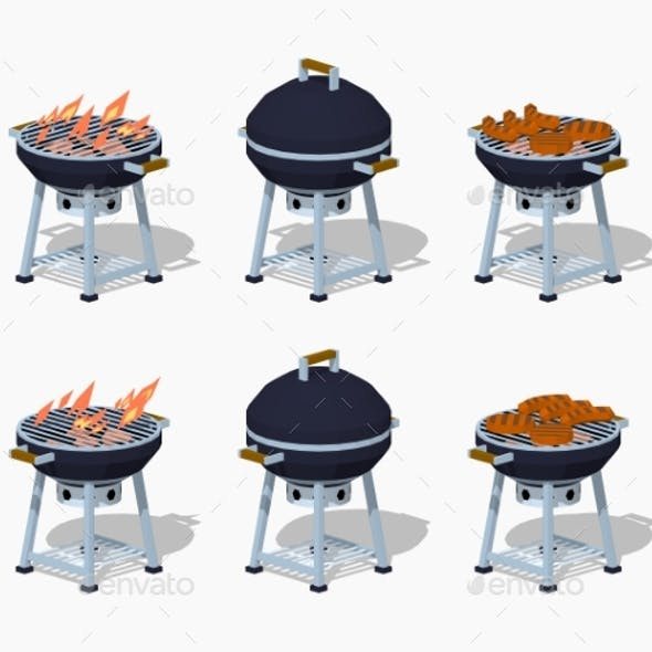 Low Poly Barbecue