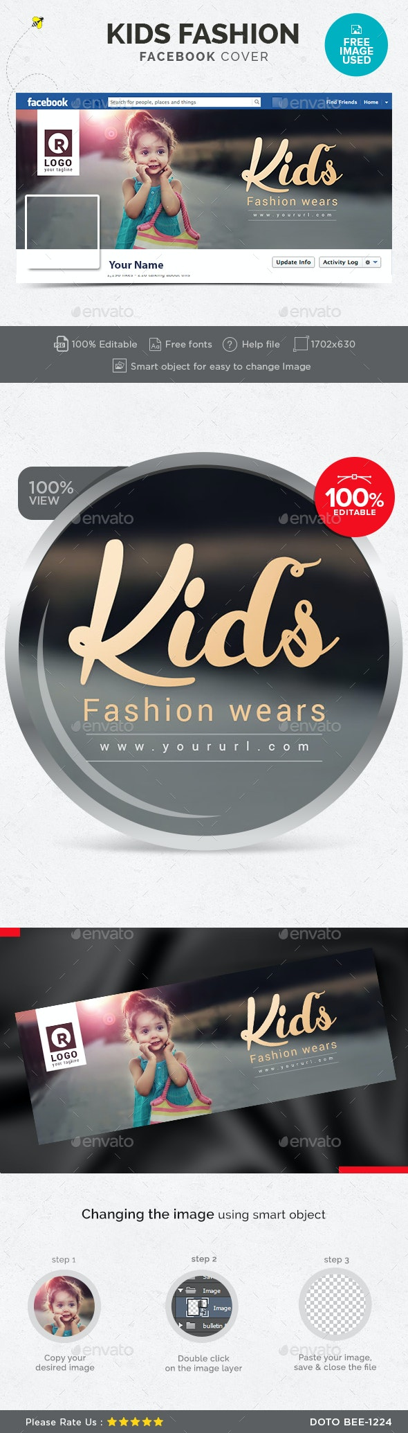 Kids Fashion Facebook Cover - Facebook Timeline Covers Social Media