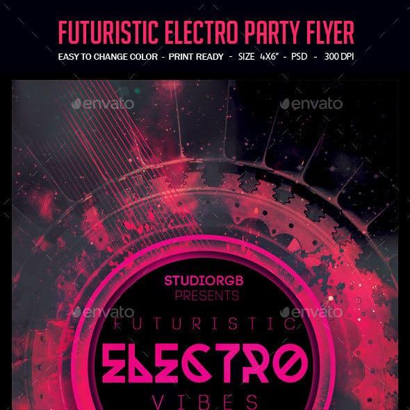 Futuristic Electro Party Flyer