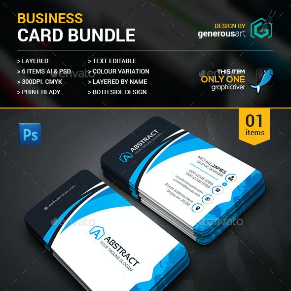 Business Card Bundle 6 in 1