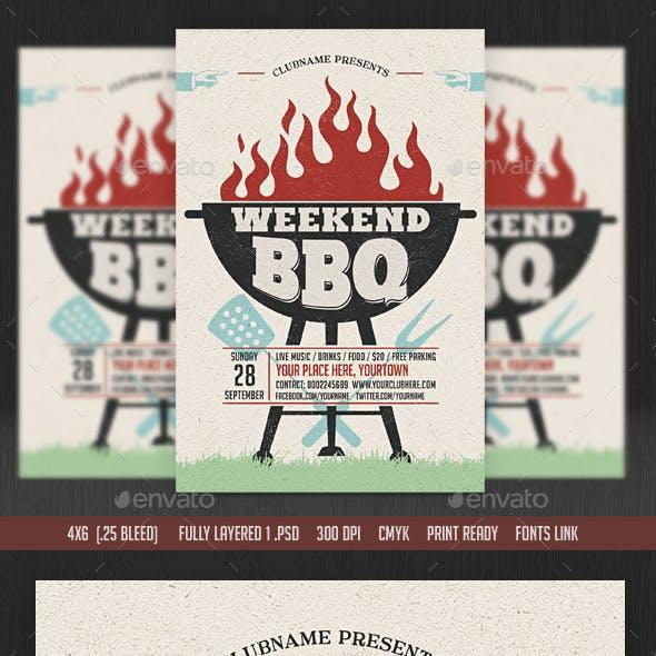 Weekend/Sunday BBQ Flyer