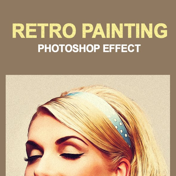 Retro Painting PS Effect