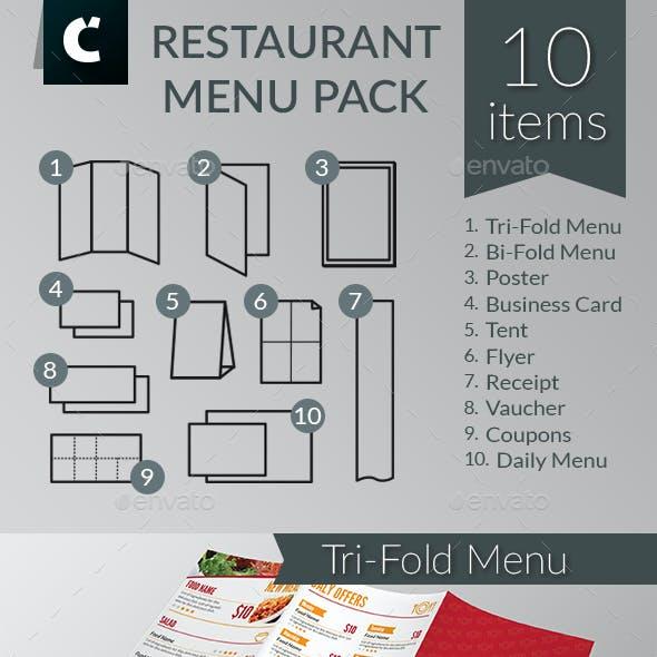 Restaurant Food Menu Pack