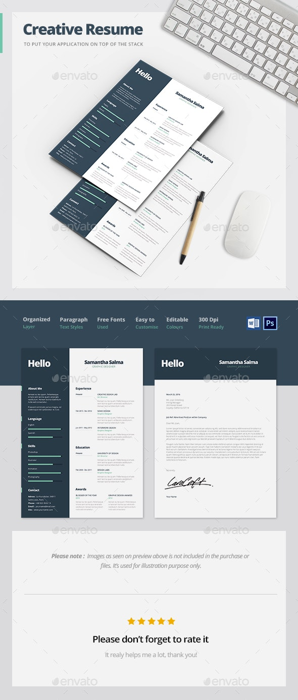 Creative Resume Template - Resumes Stationery