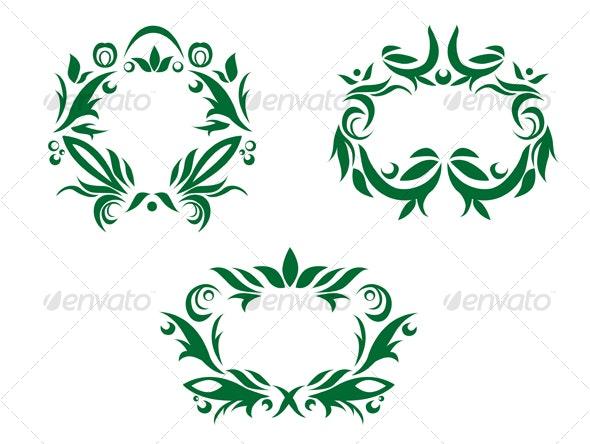 Flourishes decorations - Flourishes / Swirls Decorative