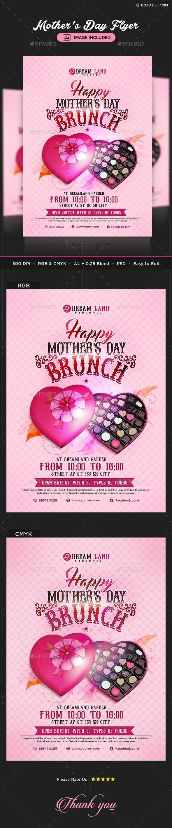 Mothers Day Flyer Template - Events Flyers