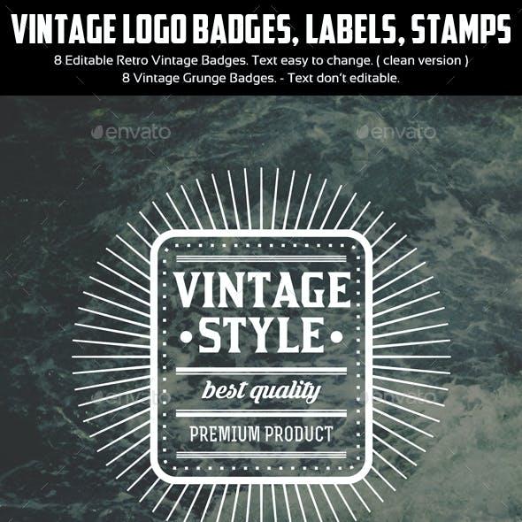 Authentic Vintage Badges & Labels