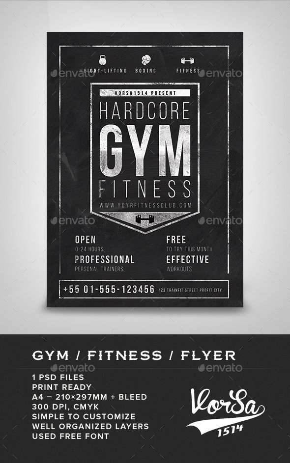 Gym / Fitness Flyer - Commerce Flyers