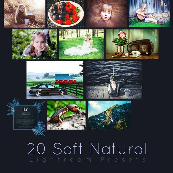 20 Soft Natural Lightroom Presets