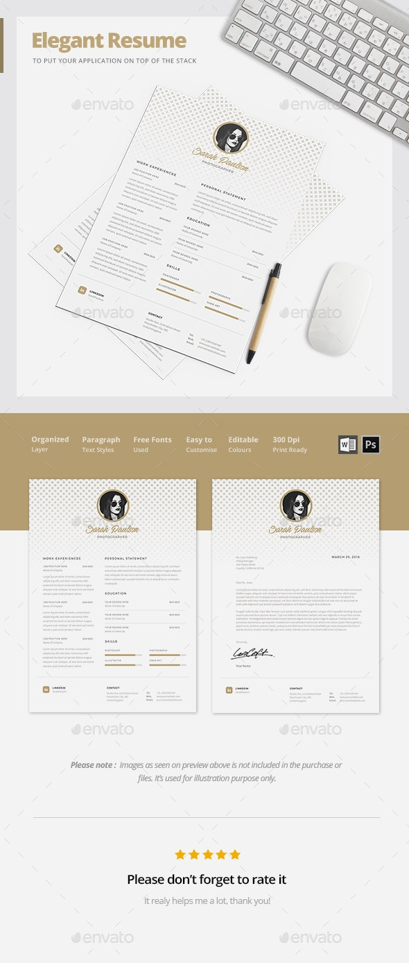 Elegant Resume Template - Resumes Stationery