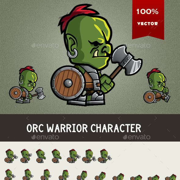 Orc Warrior Spritesheet