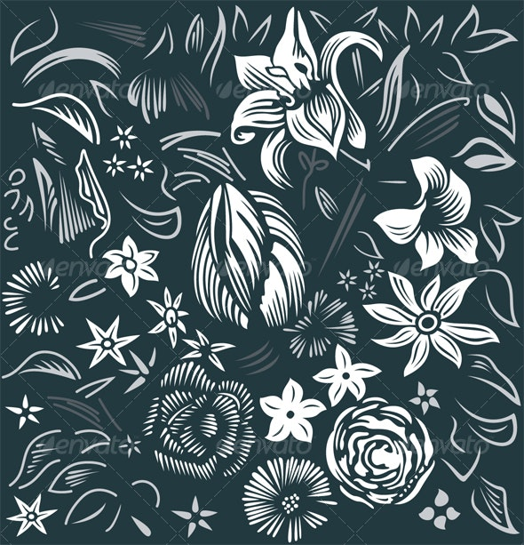 Background with flowers - Backgrounds Graphics
