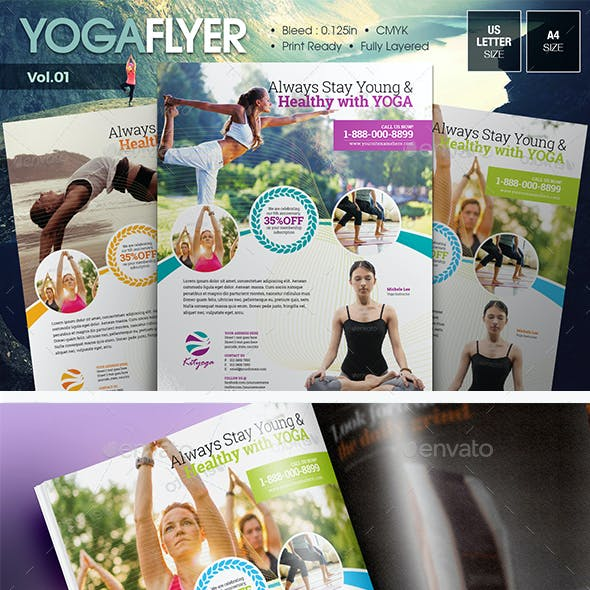 Simple Yoga Flyer Vol.01