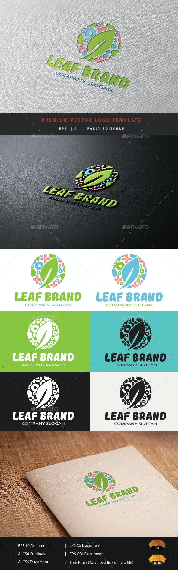 Leaf Brand - Nature Logo Templates