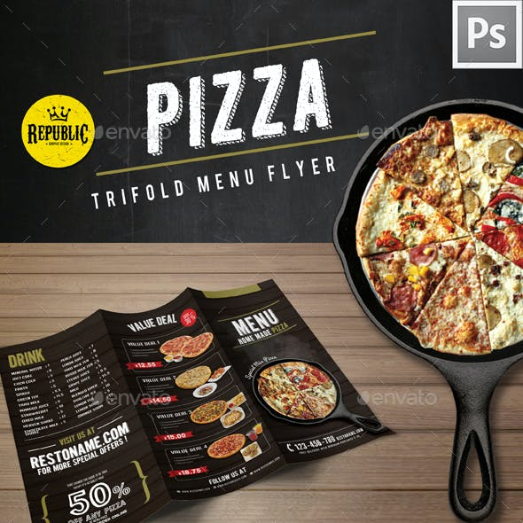 Trifold Pizza Menu