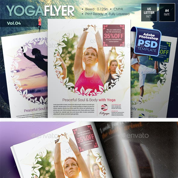 Simple Yoga Flyer Vol.04
