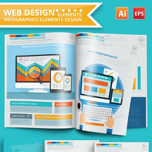 Web design infographic Design