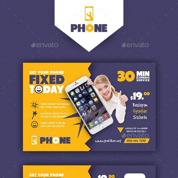 Phone Repair Postcard Templates