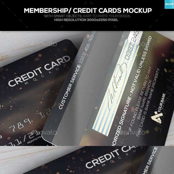 Membership/ Credit Cards Mockup