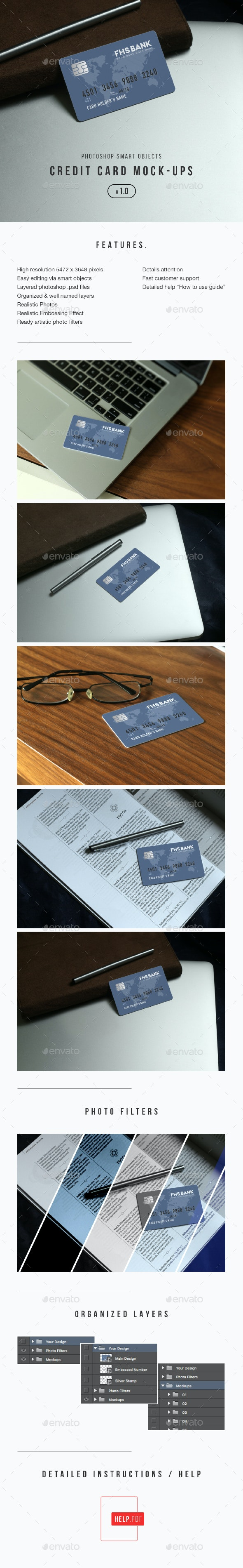 Credit Card Mockup - Miscellaneous Print