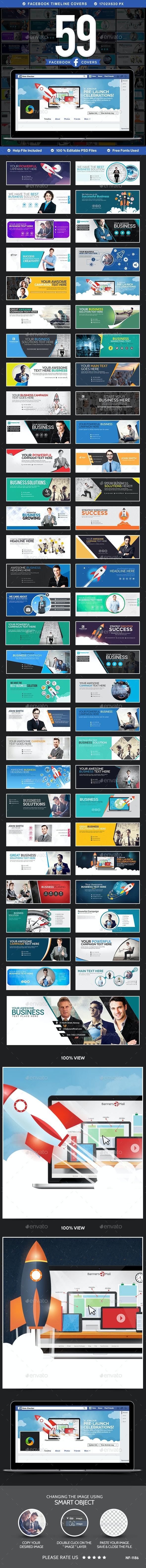 Mega Facebook Timeline Covers Bundle - 59 Designs  - Facebook Timeline Covers Social Media