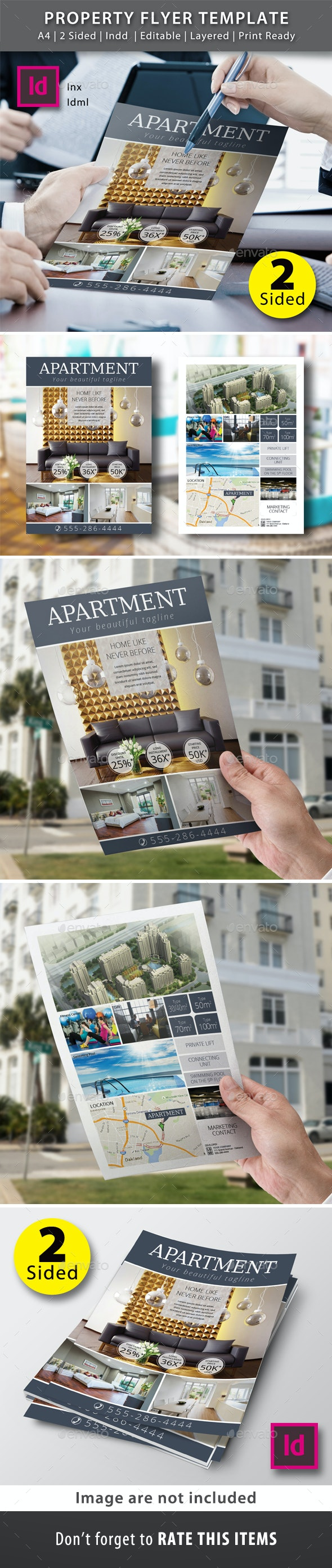 2 Sided Property Flyer Template - Commerce Flyers