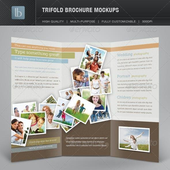 Trifold Brochure Mockups  | Volume 1