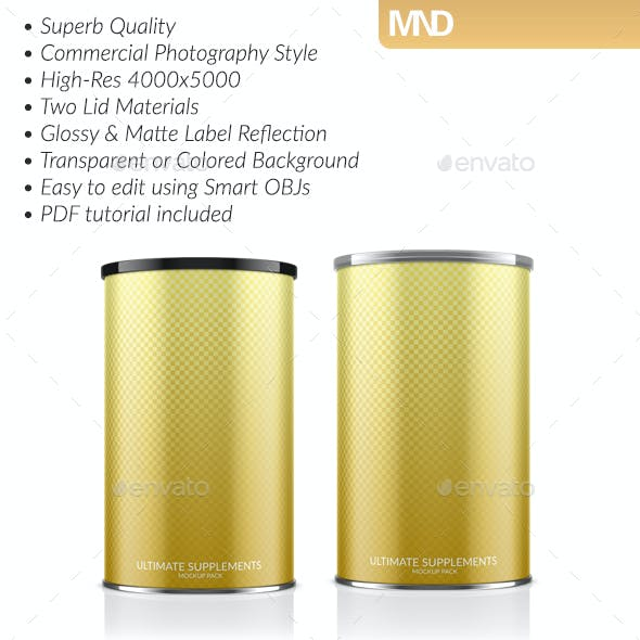 Cylindrical Supplement Container