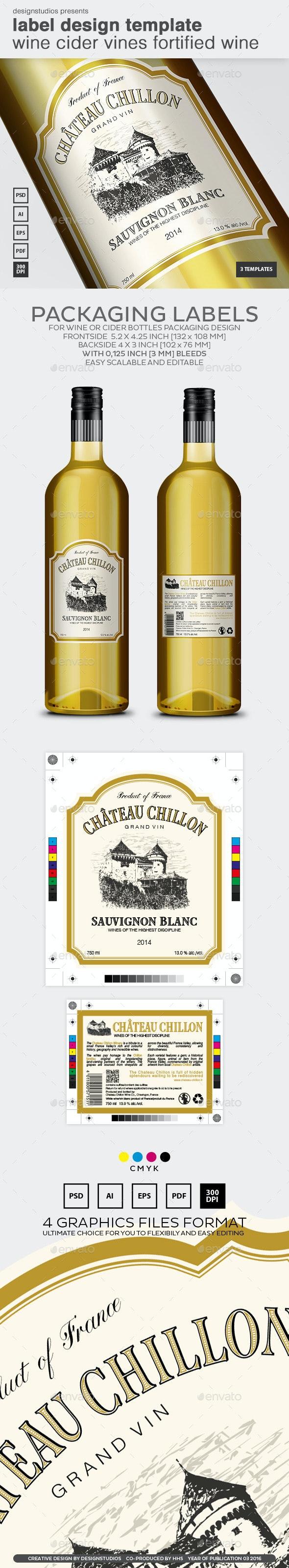 Label Design Template Wine Cider Vines Fortified Wine