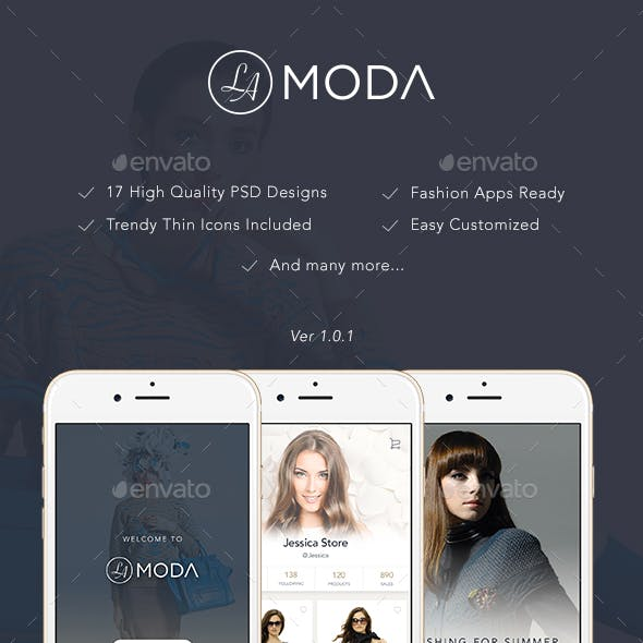 LaModa Fashion App UI