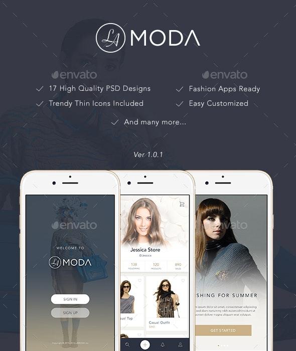 LaModa Fashion App UI - User Interfaces Web Elements