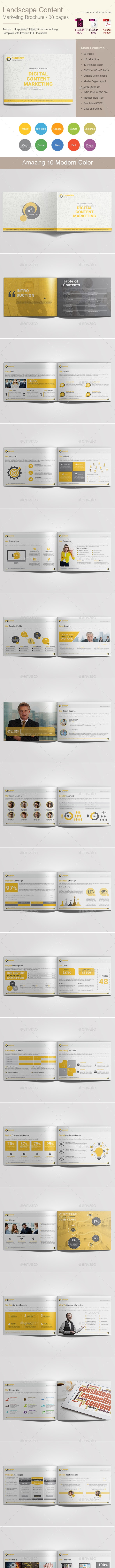 Landscape Content Marketing Brochure - Corporate Brochures