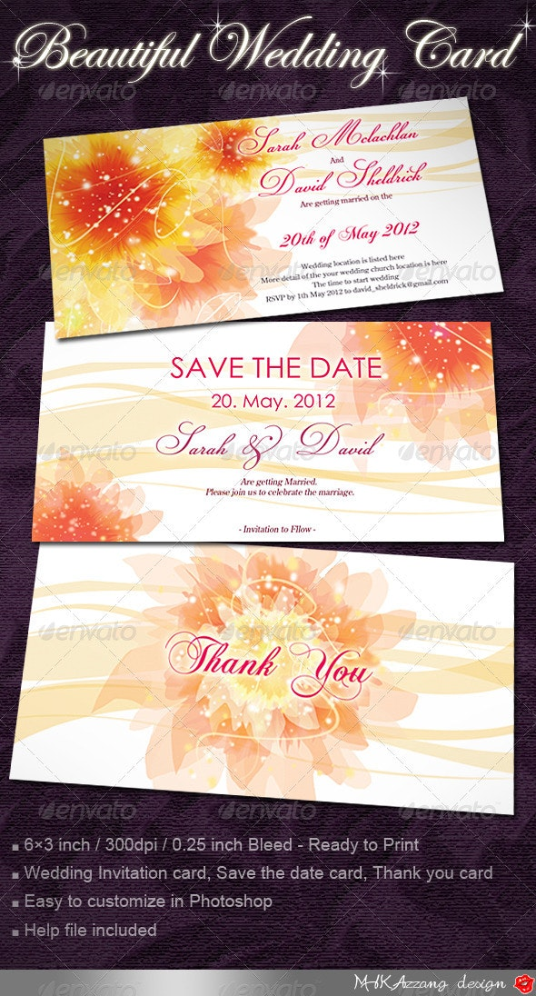 Wedding Invitation Cards with Flowers - Weddings Cards & Invites